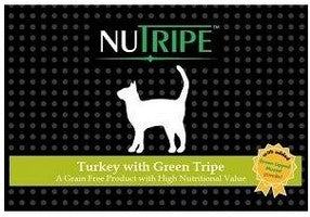 NUTRIPE TURKEY WITH GREEN TRIPE 185G-24 CANS