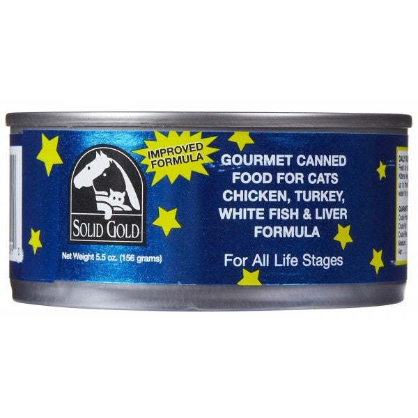 SOLID GOLD CHICKEN AND TURKEY CANNED 5.5OZ-24 CANS
