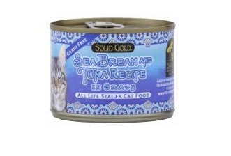 SOLID GOLD SEABREAM & TUNA CANNED 6OZ-24CANS