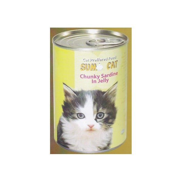 SUMO CAT CHUNKY SARDINE IN JELLY 400G