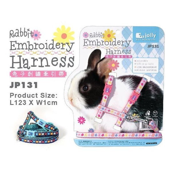 JP131 RABBIT EMBROIDERY HARNESS