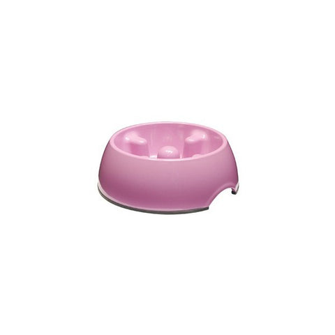 73708 DOGIT GO SLOW ANTI-GULPING DISH(SMALL) - PINK