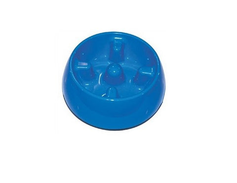 73709 DOGIT GO SLOW ANTI-GULPING DISH(SMALL) - BLUE