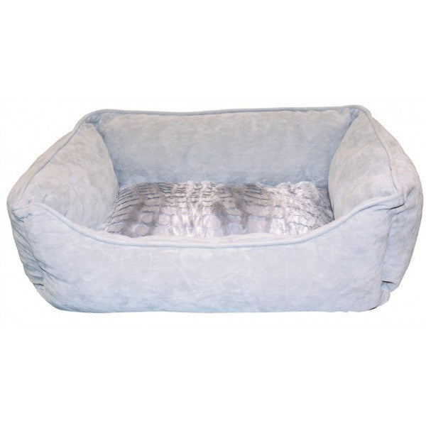 D5203 DOGIT REVERSIBLE CUDDLE BED WILD ANIMAL GREY