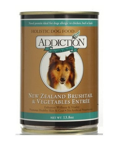 ADDICTION CANNED DOG FOOD NZ BRUSHTAIL & VEGETABLES ENTREE-GRAIN FREE (24 CANS)