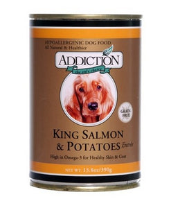 ADDICTION CANNED DOG FOOD KING SALMON & SWEET POTATO (24 CANS)