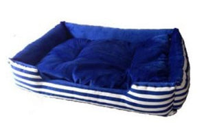 Haobay Blue Stripe Pet Bed
