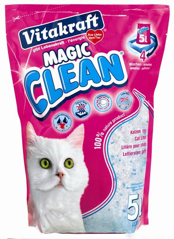 VITAKRAFT MAGIC CLEAN SILICA CAT LITTER 5L