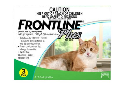 FRONTLINE PLUS FOR CATS (3 TUBES)