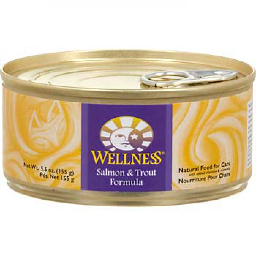 WELLNESS SALMON & TROUT CAT CANNED FOOD 5.5OZ