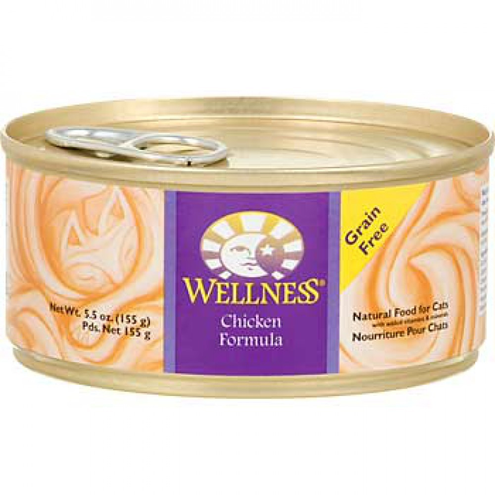 WELLNESS CHICKEN CAT CANNED FOOD 5.5OZ