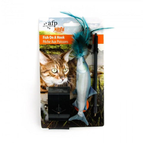 Image of All For Paws Fish on a Hook Toy
