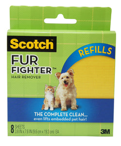 3M Scotch Fur Fighter Pet Hair Remover For Upholstery Refill