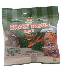 American Pet Diner Smaks Treats Light Veggie Heart Cookies For Small Animals 1.75oz