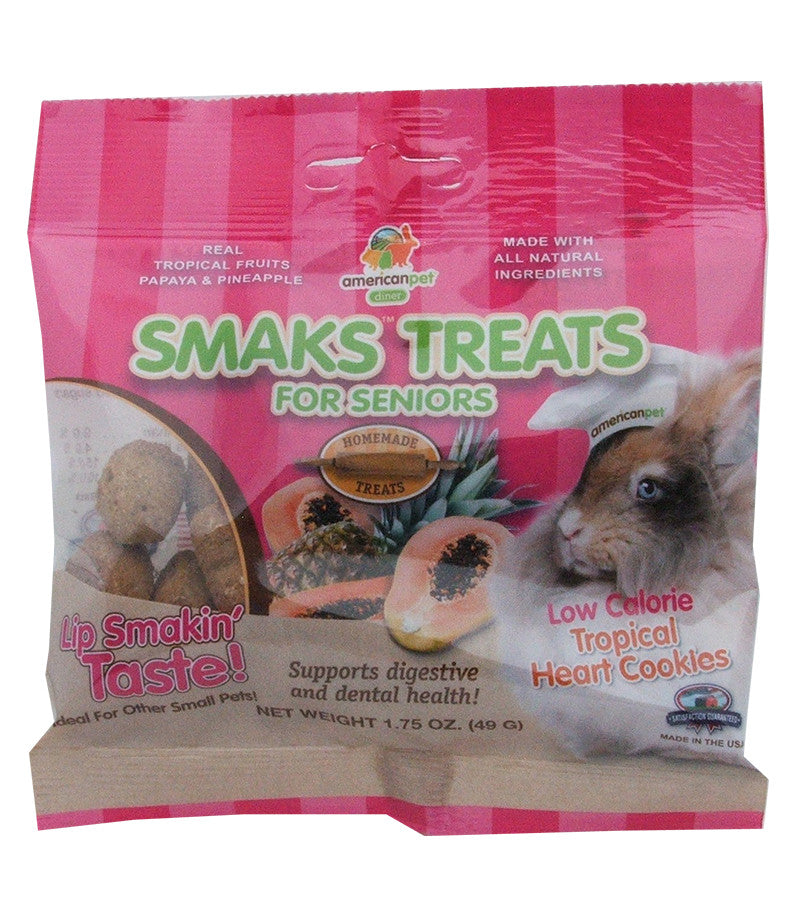 American Pet Diner Smaks Treats Senior Tropical Cookies For Small Animals 1.75oz