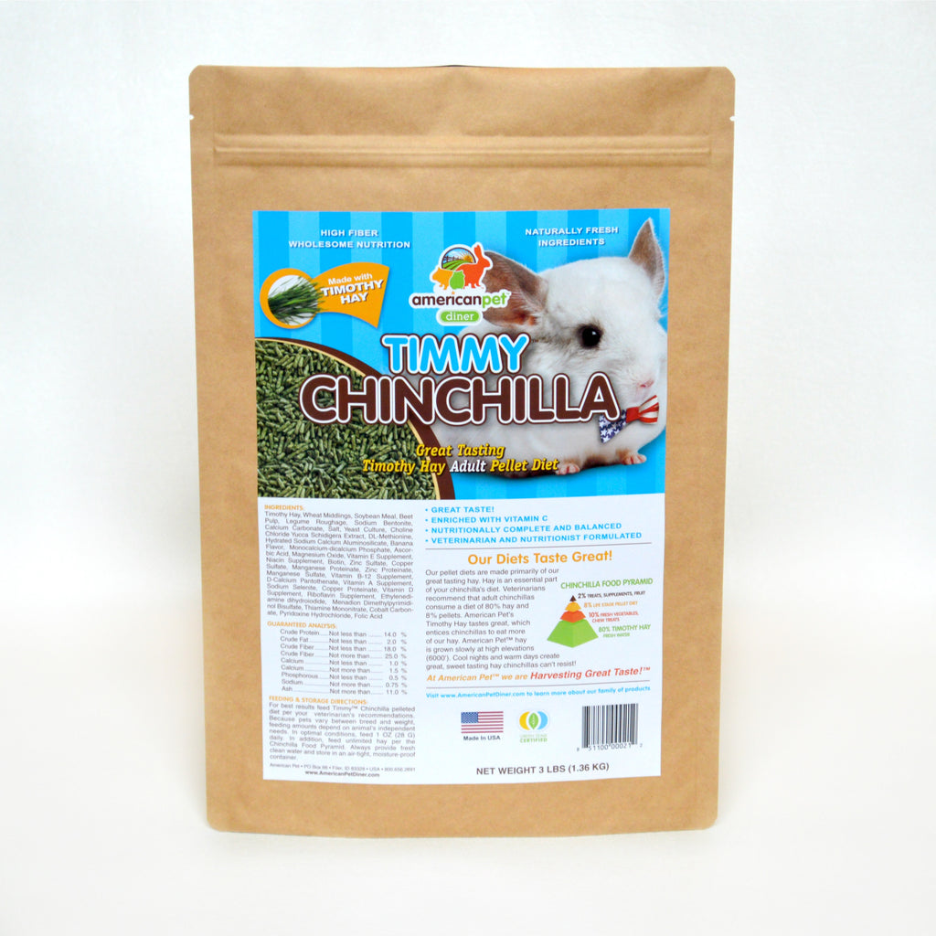 American Pet Diner Timmy Chinchilla Pellet Food 3lb
