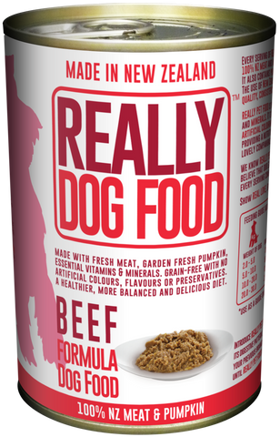 Really Dog Food Beef 375g (12/carton)