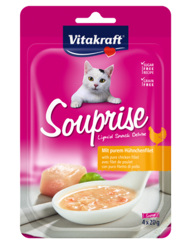 Vitakraft Souprise Chicken 4x20g (18pcs/carton)