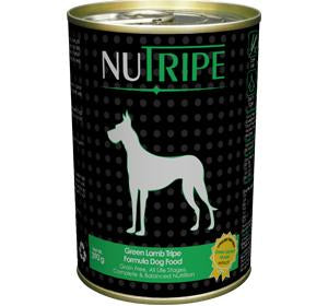Nutripe Green Lamb Tripe Formula Dog Food 390g