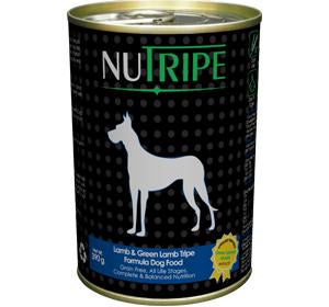 Nutripe Lamb & Green Lamb Tripe Formula Dog Food 390g