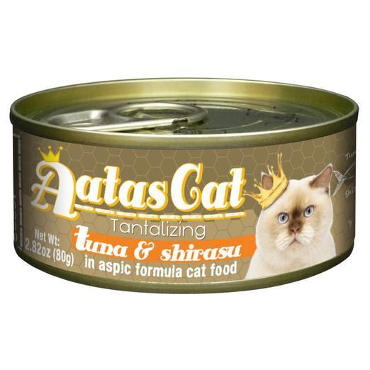 Aatas Cat Tantalizing Tuna & Shirasu in Aspic Canned Cat Food 80g (24pcs)