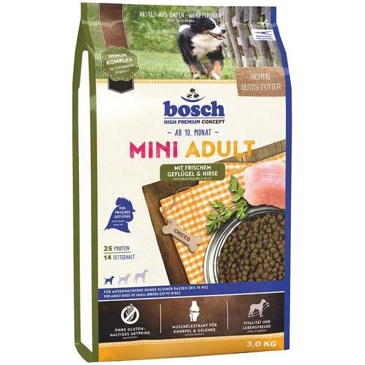 Bosch High Premium Mini Adult Poultry & Millet Dry Dog Food 3kg
