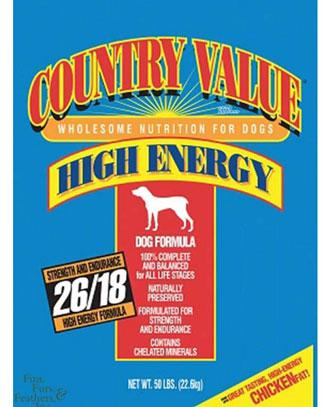 Country Value Hi-Energy Dog 50lbs