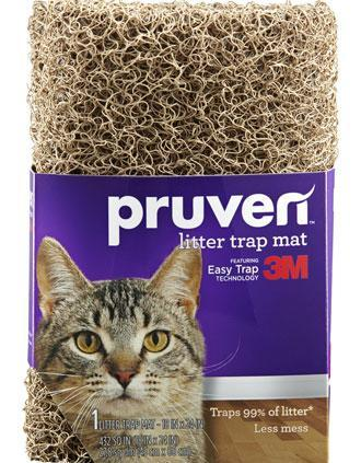 Pruven Litter Trap Mat With 3M Easy Trap Technology Small