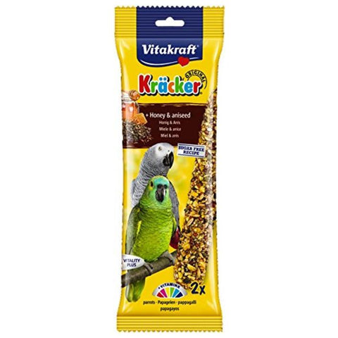 Vitakraft Kracker Honey African Parrot 2pcs