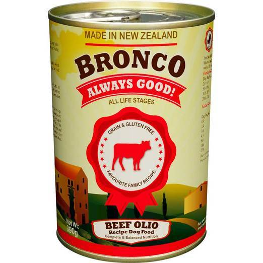 Bronco Beef Olio Recipe Dog Food 390g (24pcs)