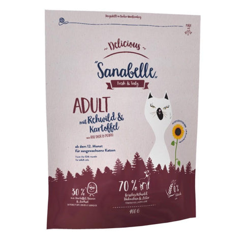 Sanabelle Delicious Roe Deer & Potato Adult Grain-Free Dry Cat Food