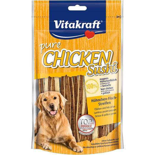 Vitakraft Chicken Sushi Strips with Fish 80g