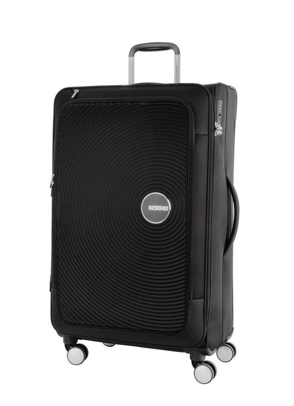 AMERICAN TOURISTER CURIO SOFT SIDE 81CM SPINNER BLACK