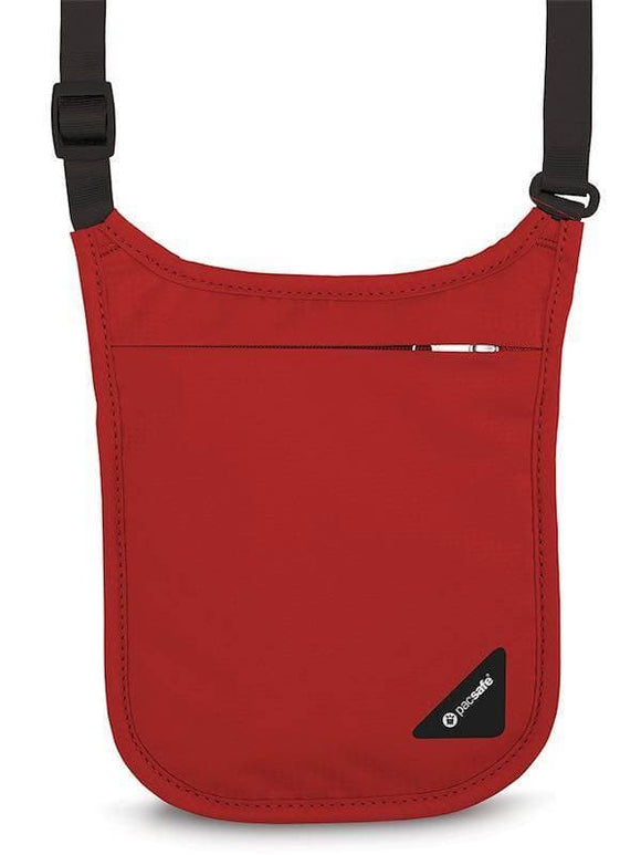 Pacsafe Coversafe V75 RFID-Blocking Neck Pouch Chilli