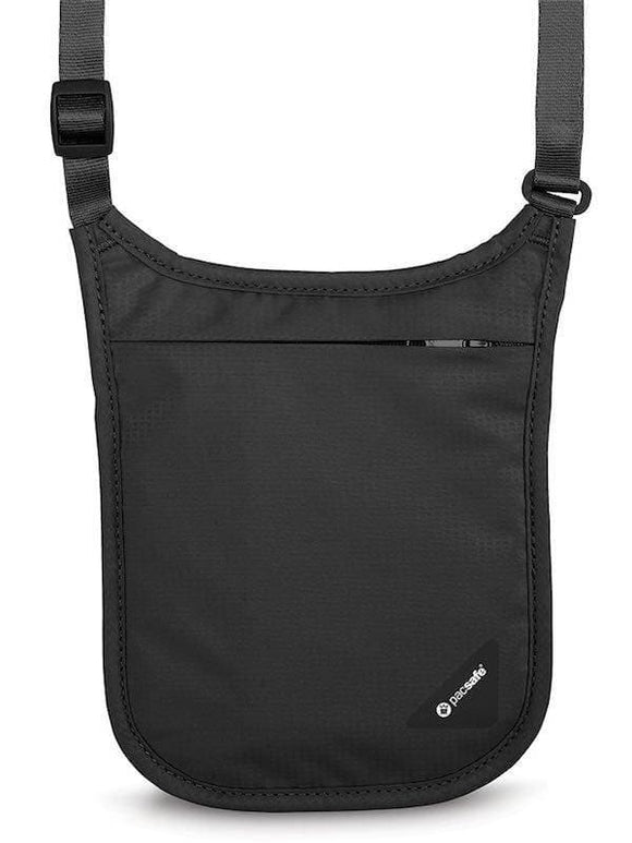 Pacsafe Coversafe V75 RFID-Blocking Neck Pouch Black