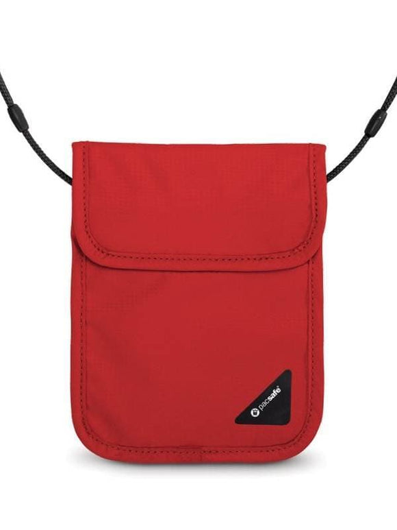 Pacsafe Coversafe RFID-Blocking Neck Pouch X75 Chilli