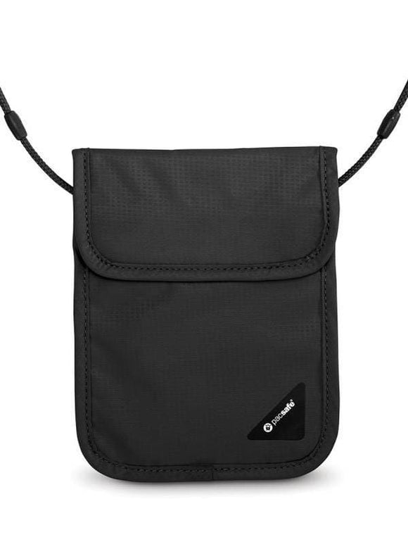 Pacsafe Coversafe X75 RFID-Blocking Neck Pouch Black
