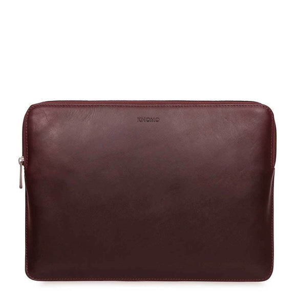 "Knomo Barbican Sleeve 13"" Leather Laptop Sleeve Brown"