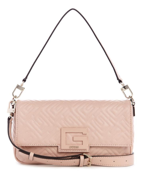 GUESS BRIGHTSIDE SHOULDER BAG ROSEWOOD