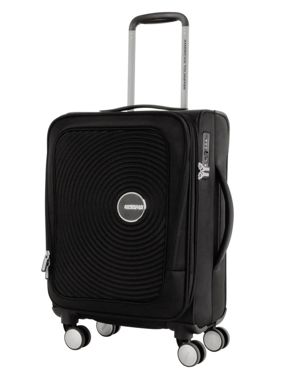 AMERICAN TOURISTER CURIO SOFT SIDE 55CM SPINNER BLACK