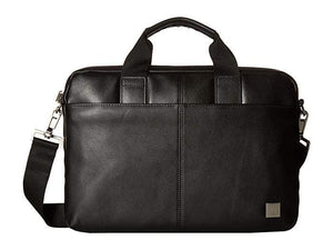 KNOMO BROMPTON CLASSIC STANFORD FULL LEATHER SLIM LAPTOP CARRIER 13 INCH BLACK