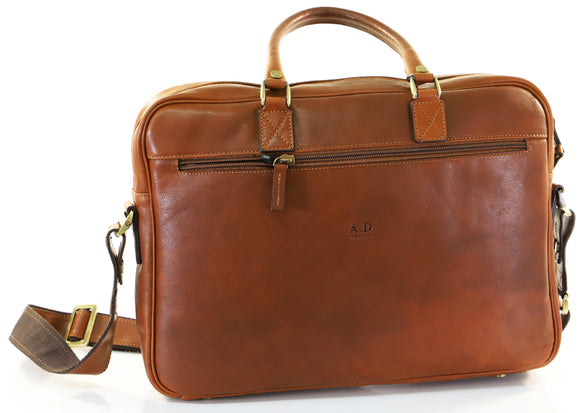 ADRIANO BRIEFCASE LIGHT TAN