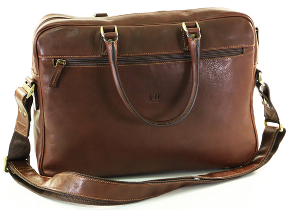 ADRIANO BRIEFCASE DARK TAN