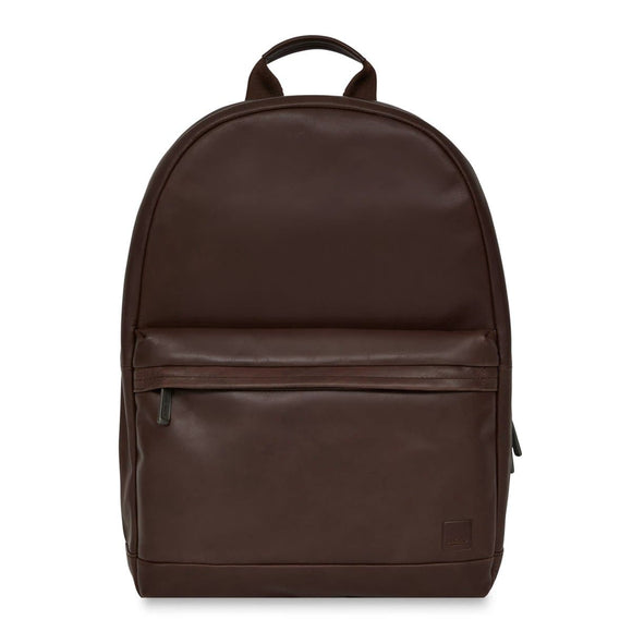 KNOMO BARBICAN ALBION LEATHER BACKPACK BROWN