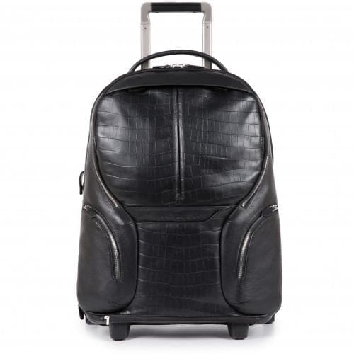 PIQUADRO COLEOS CABIN TROLLEY BACKPACK BLACK