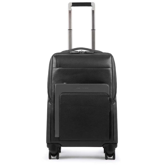 Piquadro The Feels Cabin Size Computer Trolley Black