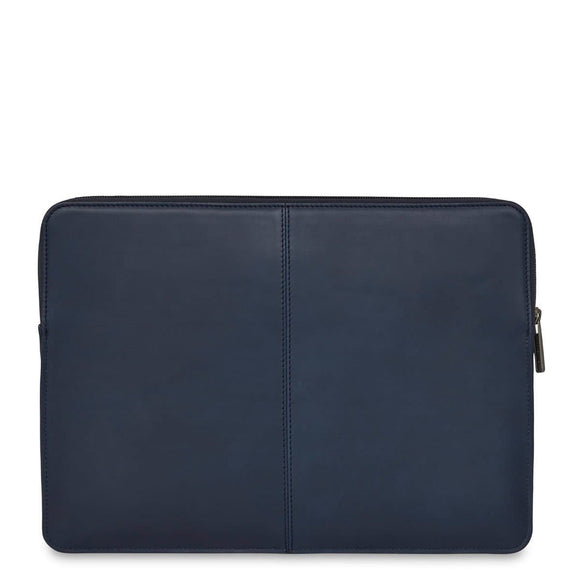 "Knomo Barbican Sleeve 13"" Leather Laptop Sleeve Blue"
