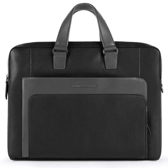 Piquadro The Feels Computer Portfolio Briefcase Black