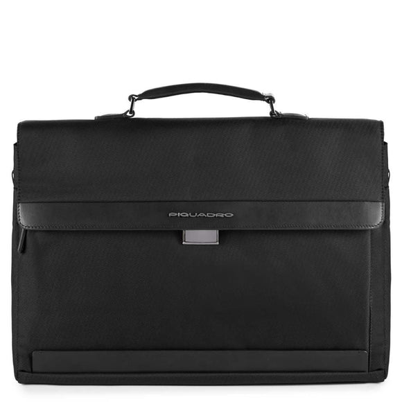 PIQUADRO KLOUT COMPUTER BRIEFCASE BLACK