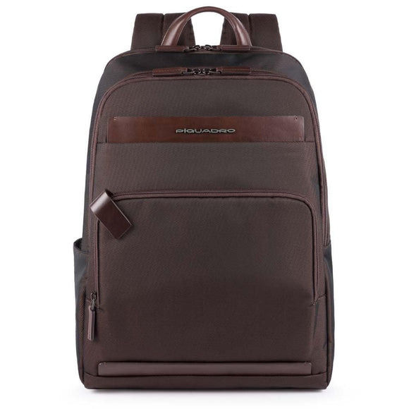 Piquadro Klout Computer and Tablet Backpack Dark Brown